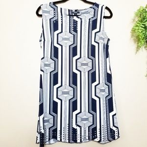 Alfani | Navy Geometric Studded Tunic Dress